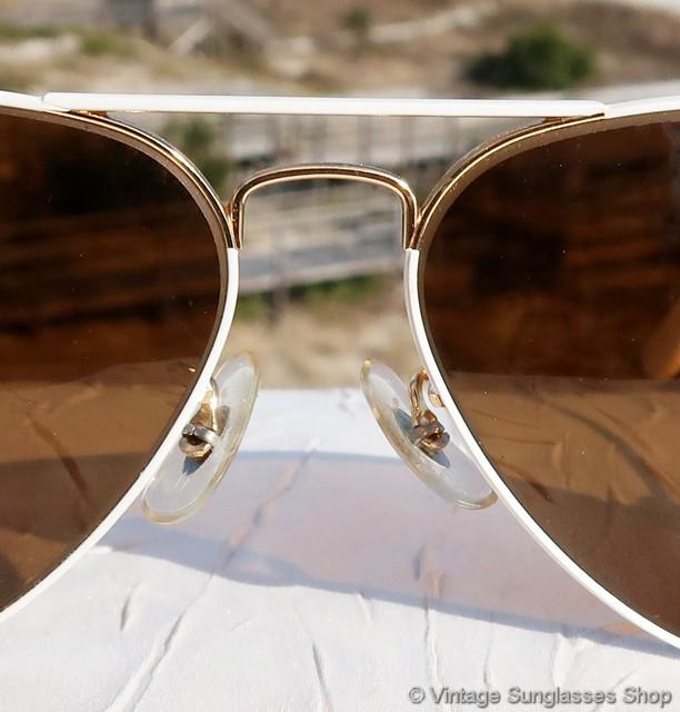 1b0b60072d Ray-Ban White Flying Colors B-15 Sunglasses