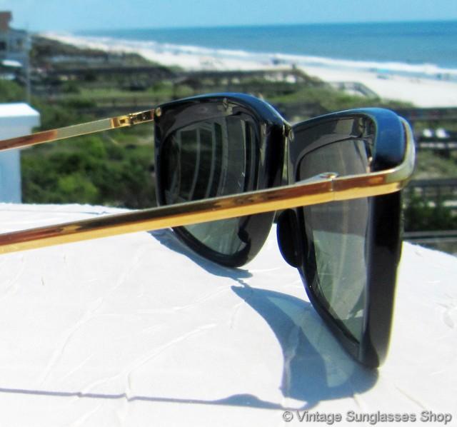 6b4c4d72e5c B l Ray Ban Olympian Ii L1000 Black Wayfarer Sunglasses