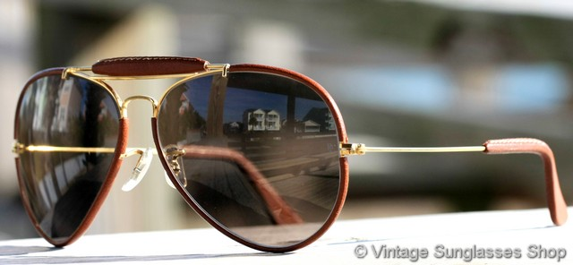 ray ban aviator sunglasses from  vs627: vintage b&l ray ban l1648 outdoorsman ii leathers sunglasses c early 1980s have all the top of the line features starting with a 24k gold plated