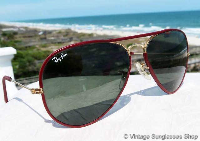 Ray-Ban Leathers 58mm Aviator Sunglasses