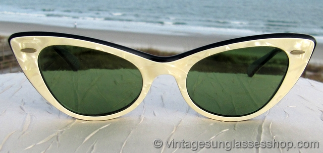 8841527c53 VS1126  Vintage Ray-Ban Lisbon cat eye sunglasses c 1950s   early 1960s are  every bit as striking today as when they were first produced.