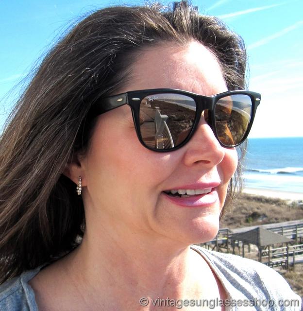 Ray Ban Wayfarer Mirrored Ambermatic Sunglasses