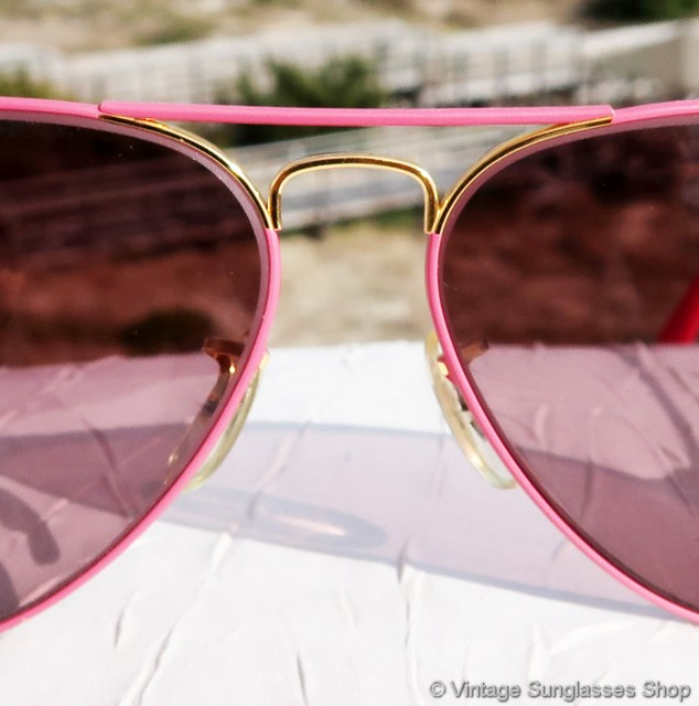 Ray Ban Pink And Gold