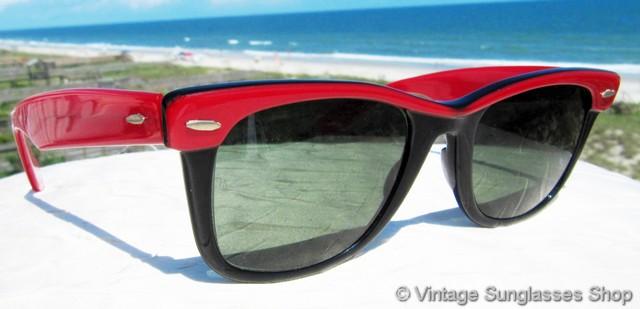 2ea4ecfc5c Ray-Ban Red   Black Ebony Wayfarer Street Neat Sunglasses
