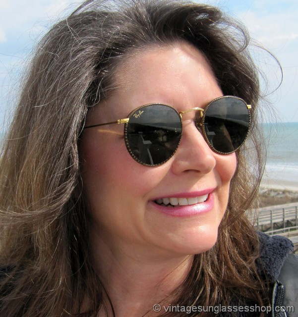 cf3132aa7f Vintage Ray Ban B l Round Metal Lennon Sunglasses Gold