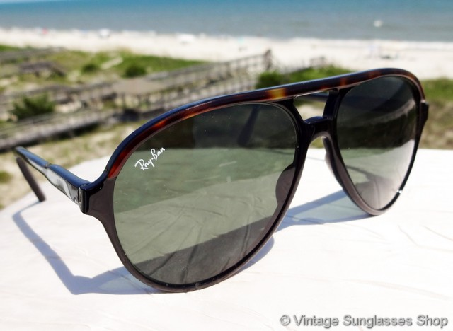 black ray ban style sunglasses  vs116: vintage ray ban l1668 traditionals style a sunglasses combine black ebony and tortoise shell in a uniquely shaped, aviator inspired nylon frame