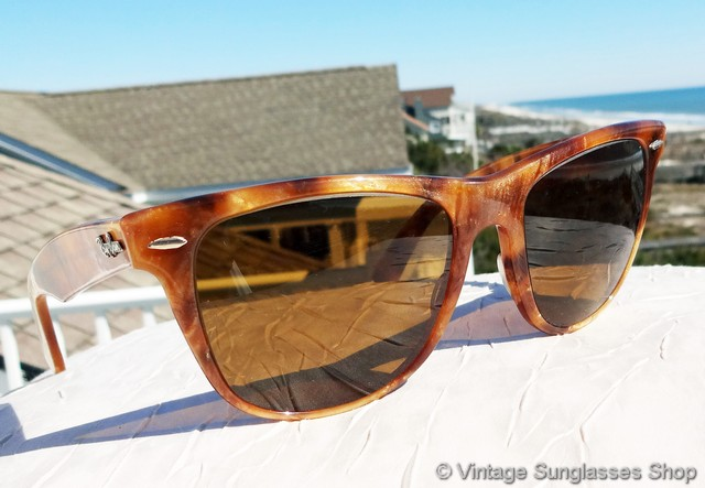 vintage ray ban wayfarer  vs617: vintage ray ban w0888 blond frost wayfarer limited sunglasses are the original style everyone wants, and here's a very low production variant that we