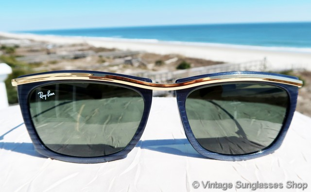 ray ban style sunglasses xvqt  VS663: Vintage Ray-Ban W0263 Olympian II Street Neat sunglasses in slate  blue and ebony are one of the most stylish of any vintage Ray-Ban,