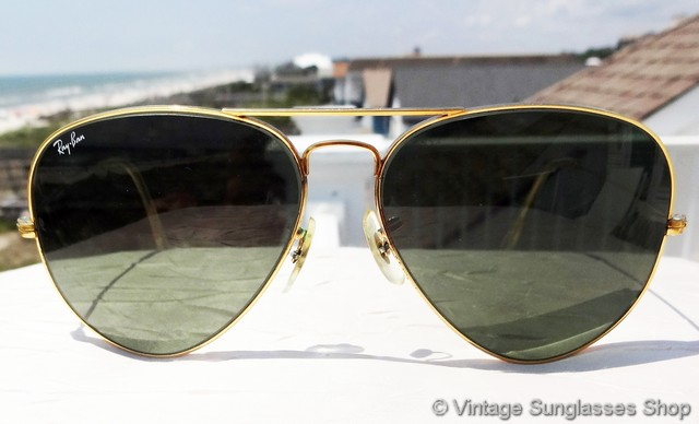 529303316c Ray-Ban 62mm and 64mm Gold G-15 Aviator Sunglasses