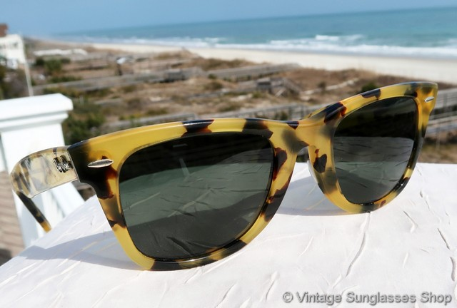 9ec921c8204a VS3032: Vintage Ray-Ban W0893 Wayfarer II Limited Edition sunglasses with  yellow tortoise shell frame and G-15 lenses are one of the rarest of all  the ...