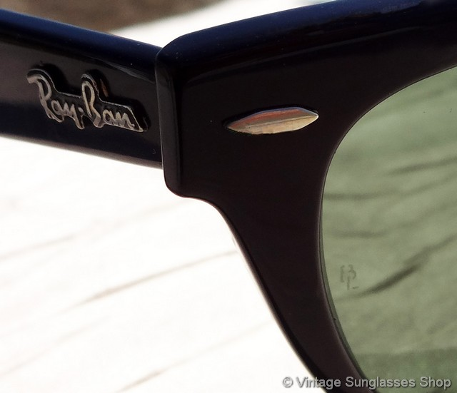 ray ban laramie sunglasses black blue orange  vs414: vintage b&l ray ban w0904 wayfarer laramie sunglasses are a slight variation of classic black ebony wayfarers with a slightly more rounded look to