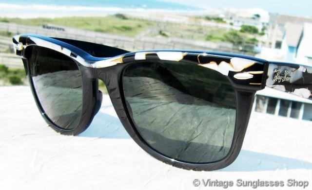 91a0800b7a ray-ban w1085 wayfarer street neat white mosaic sunglasses 7.jpg