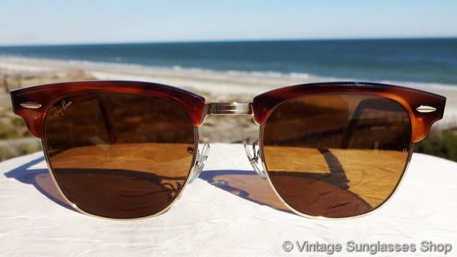6441b974b3 Ray-Ban W1117 Clubmaster II Blond Tortoise Sunglasses