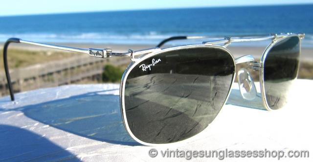 Ray-Ban W1537 Deco Metal Square Silver Arista Sunglasses