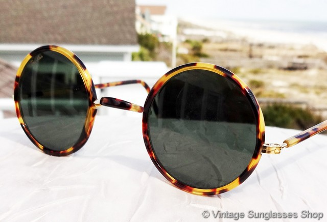 Ray Ban Round Tortoise S Sunglasses  vintage ray ban sunglasses for men and women page 4
