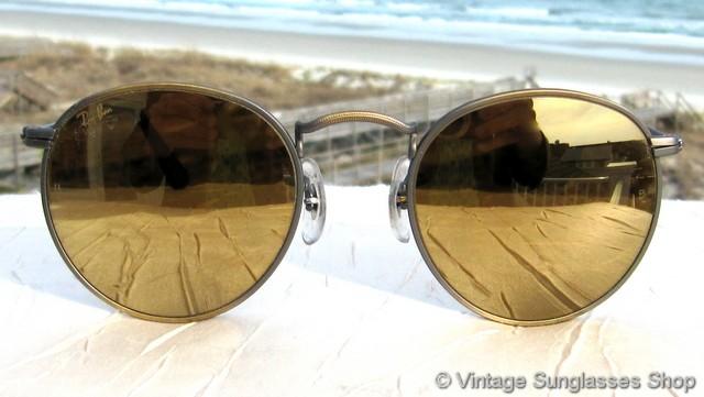 70205595b03 Ray-Ban W1911 Matte Antique Gold Diamond Hard Sunglasses