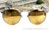 Ray Ban W1911 Matte Antique Gold Diamond Hard Sunglasses