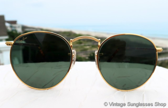 2a8214651e VS641  Vintage Ray-Ban W2201 Duty Free Round Elite Arista sunglasses from  the Classic Metals collection is in our view one of the most beautiful  styles ...