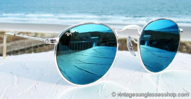 Ray Ban W2246 Silver Arista Blue Mirror Sunglasses