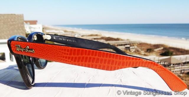 3310beb99f Ray-Ban Wayfarer Leathers Black Ebony Sunglasses