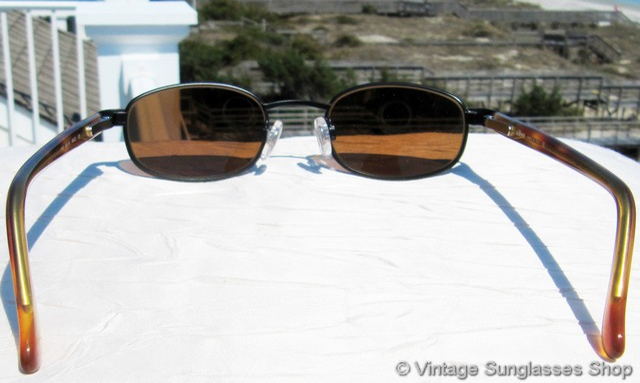 0a832fc1c8 VS2918  Vintage Revo 1112 001 Rectangle sunglasses c 1990s feature rare  green mirror lenses and eye catching orange tortoise shell ear stems