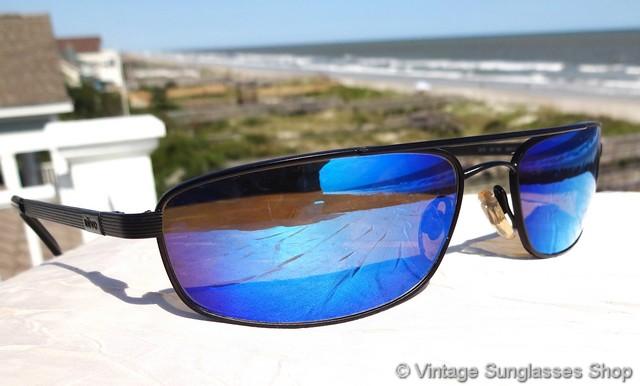 d57ad7bb06ce VS554  Vintage Revo 3015 001 blue mirror H20 sunglasses are a unique Revo  interpretation of classic aviator sunglasses