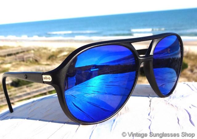 Revo H2o Sunglasses Polarized  revo 800 001 venture aviator blue mirror h20 sunglasses
