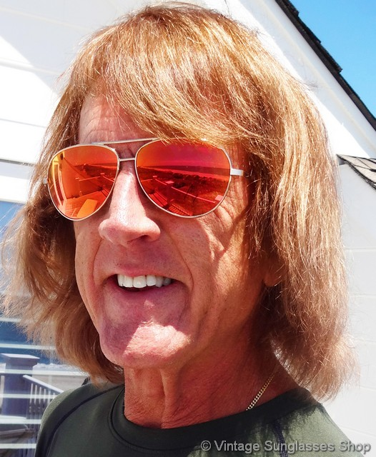 Orange Mirrored Sunglasses  revo pilot orange mirror sunglasses