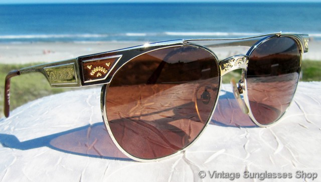 278ca51fb0c2 VS2757: Vintage Serengeti 5294 sunglasses feature a really eye catching  gold and silver frame with impressed decorations and a style that exudes  the look of ...