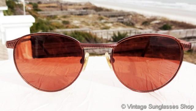 43bebaf527b0 VS401: Vintage Serengeti 5502 Equinox copper sunglasses totally exude the  high quality frames and lenses for which vintage Serengeti sunglasses were  known ...