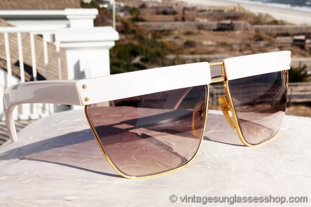 be9ae29de9b4 VS3150: Vintage Versace 402 733 Perspectives sunglasses c 1980s were one of  the early styles of sunglasses designed and produced by Gianni Versace, ...