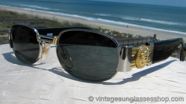 Versace S70 15l Gold Medusa Sunglasses