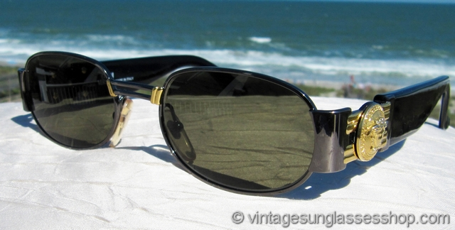a485172303f VS2431  Vintage Versace Mod S70 Col 91M sunglasses are a design explosion  of gold