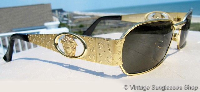 Gold Sunglasses Mens  vintage versace sunglasses for men and women