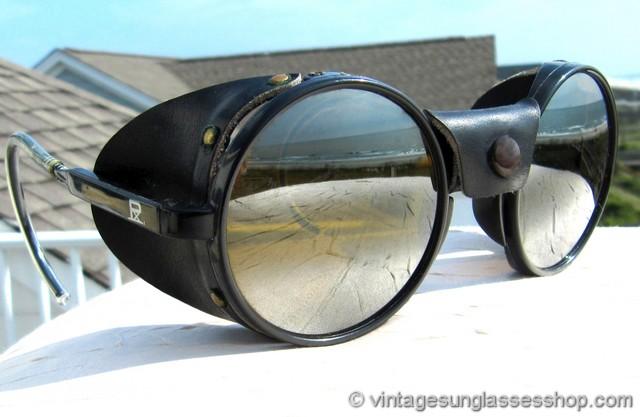 Vuarnet 028 Skilynx Black Round Glacier Glasses