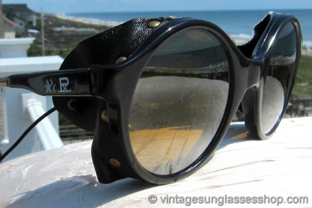 48290973476 Vuarnet 028 Skilynx Black Round Glacier Glasses